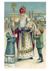 bild barn och Sankt Nikolas