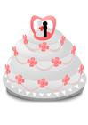 bild bröllopstårta