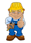 bild byggnadsarbetare