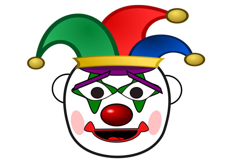 bild clown  skriv ut gratis bilder  bild 29658