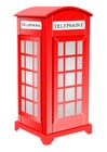 bild engelsk telefonkiosk