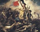 bild Eugene Delacroix - Friheten leder folket - franska revolutionen