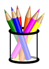 bild färgpennor