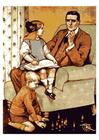 bild far med barn