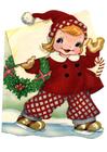bild flicka i julkläder