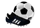 bild  fotbolls sko och boll