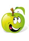 bild frukt - grönt äpple