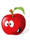 bild frukt - rött äpple