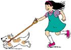 bild gå ut med hunden