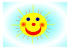 bild glad sol