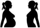 Målarbild graviditet