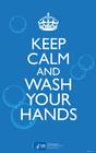bild håll dig lugn och tvätt händerna