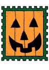 bild Halloween frimärke