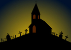 bild Halloween - kyrka