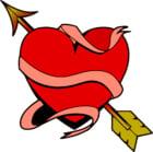 bild Hjärta med pilen