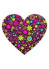 bild hjärta med blommor