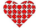 bild hjärta som puzzel