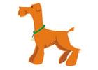 bild hund - att stå