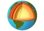 bild Jorden i genomskärning