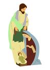bild Josef, Mary och Jesus