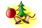 bild Jul dekorationer