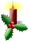 bild jul ljusstake med järnek
