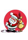 bild jultomte och renar