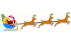 bild jultomten med släde