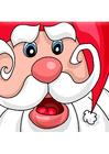 bild jultomten på släde