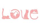 bild kärlek - katter
