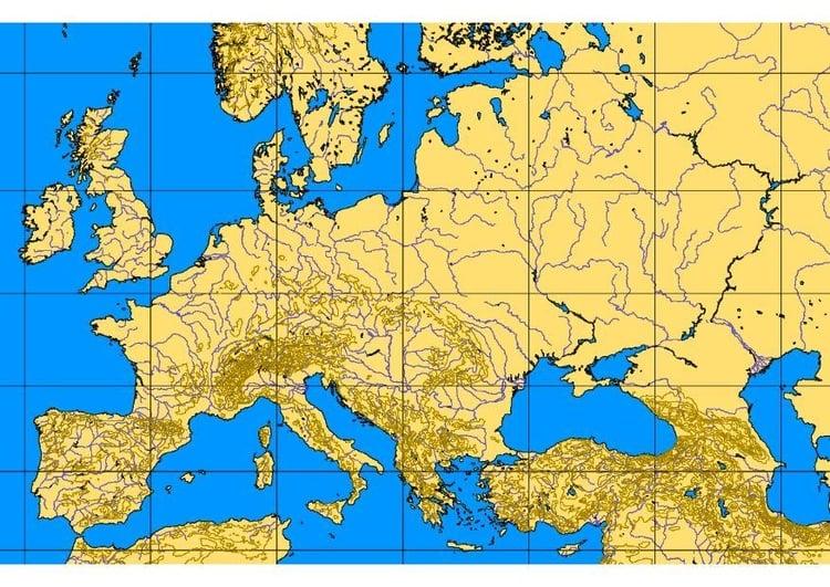 Karta Over Varldens Bergskedjor.Europas Floder Karta Karta