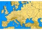 bild karta över Europas berg och floder