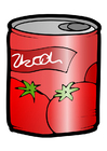 bild konservburk - tomater