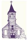 bild kyrka om vintern