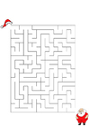 bild labyrint - jultomten