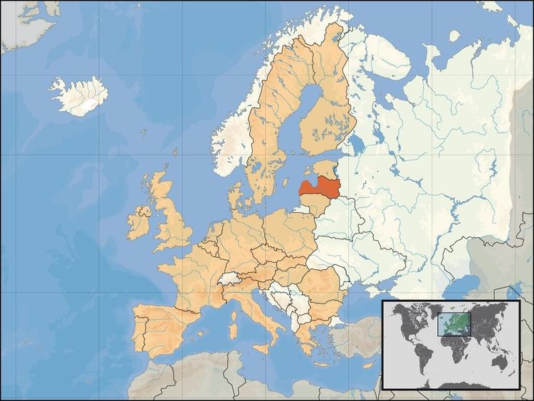 Lettland Karta Europa.Bild Lettland Bild 17503