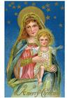 bild Maria och jesusbarnet