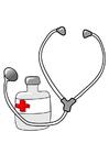 bild medicin och stetoskop