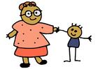 bild mor och barn
