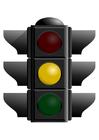 bild orange trafikljus