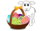 bild påskkorg med lamm