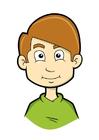 bild pojke med blont hår
