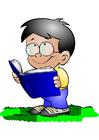 bild pojke med bok