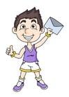 bild pojke med brev
