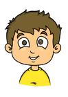bild pojke med brunt hår