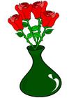 bild rosor i vas