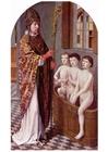 bild Sankt Nikolas ger barnen livet tilbaka - helgonbild