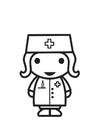 Målarbild sjuksköterska