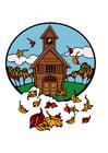 bild skolan på hösten