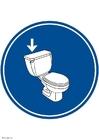 bild spola på toaletten
